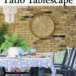 Patio Table Setting Black Pinterest
