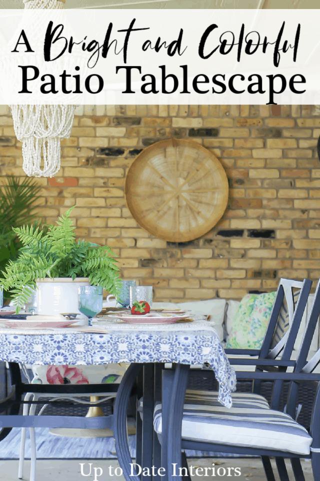 Patio Table Setting Black Pinterest