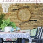 Patio Table Setting Pink Pinterest