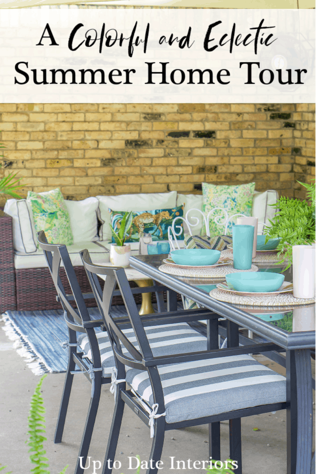 Summer Home Tour Patio Pinterest Black