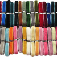 Chenkou Craft 30 Yards 3/8; Velvet Ribbon Total 30 Colors Assorted Lots Bulk