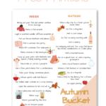 Autumn Bucket List Pinterest