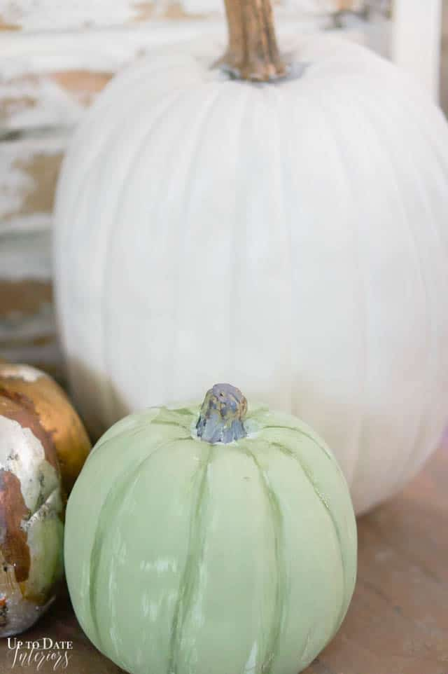 green faux heirloom pumpkin DIY