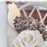Plaster Flower Pinecone Pinterest