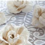 Plaster Flowers Lace Pinterest