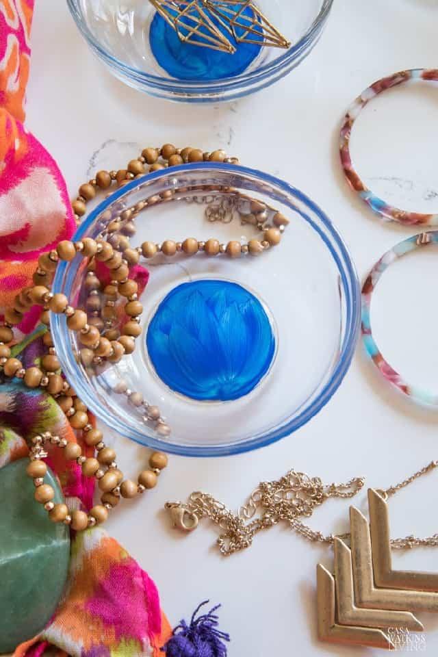 Diy Painted Lotus Flower Jewelry Bowl (1)