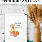 Give Thanks 8x10 Pinterest Black