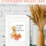 Give Thanks 8x10 Pinterest Pink