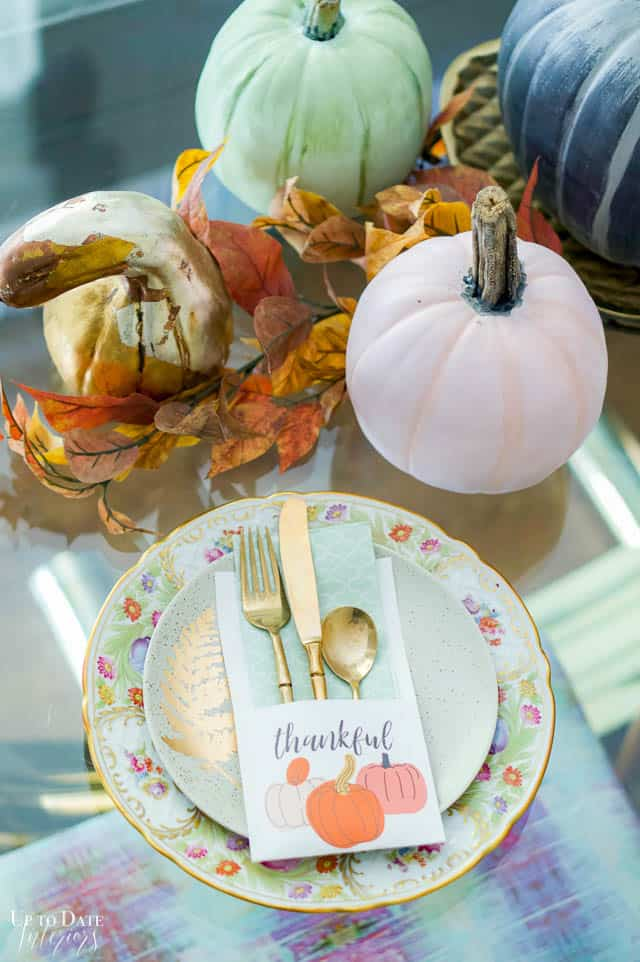 printable thanksgiving decor for the table