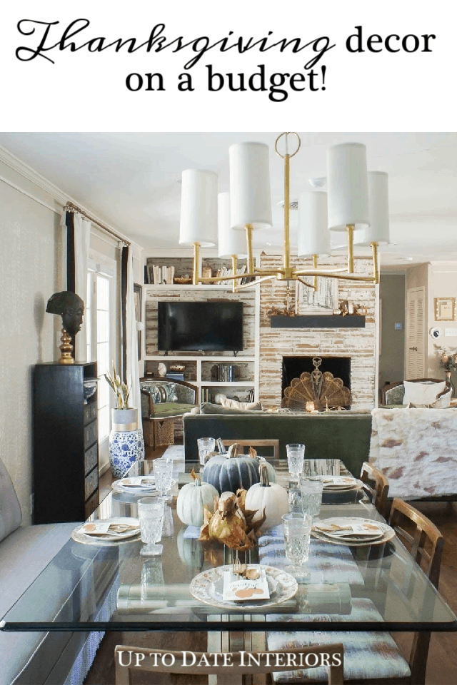Decorating for Thanksgiving on a Budget | Up to Date Interiors