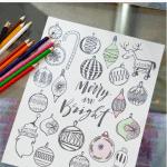 Christmas Coloring Sheet Pinterest Pink