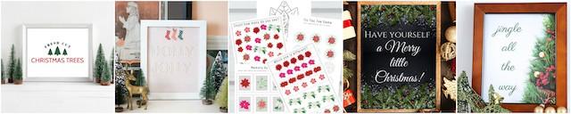 Free Christmas Printables Collage 1