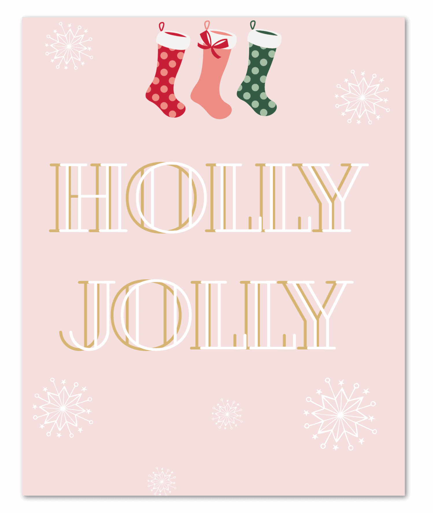 Holly Jolly Drop Shadow 2