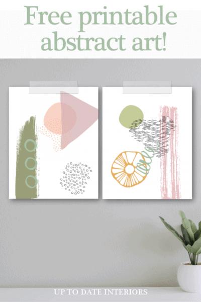 Abstract Printable Art Pinterest Green