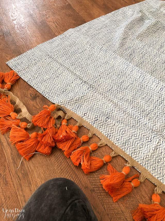 Adding tassel trim to curtains