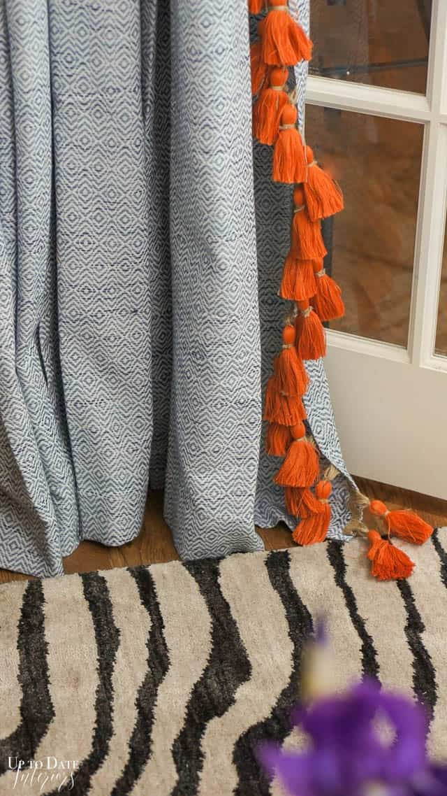 Curtains with Tassels - Adding trim to curtains