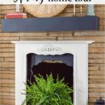Spring Home Tour Fireplace Black
