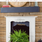 Spring Home Tour Fireplace Pink