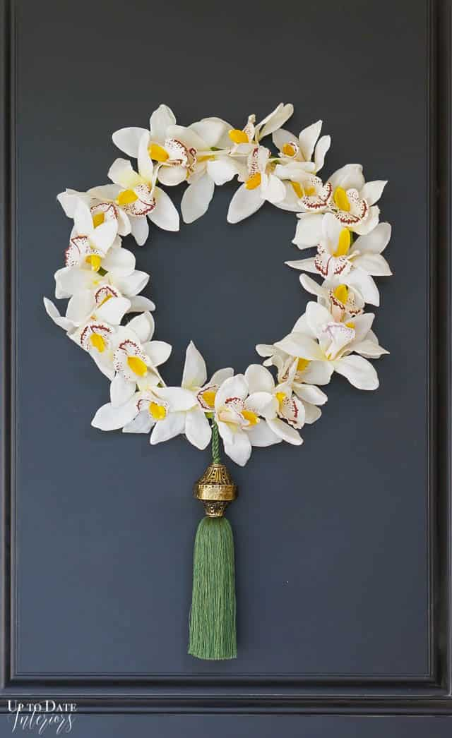 Diy Embroidery Hoop Wreath Orchid Wreath Edited 8