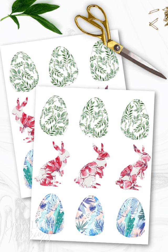 Printable Colored Easter Eggs:  Easter egg printable