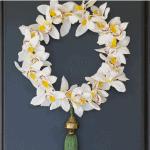 Orchid Wreath Door Pinterest Black
