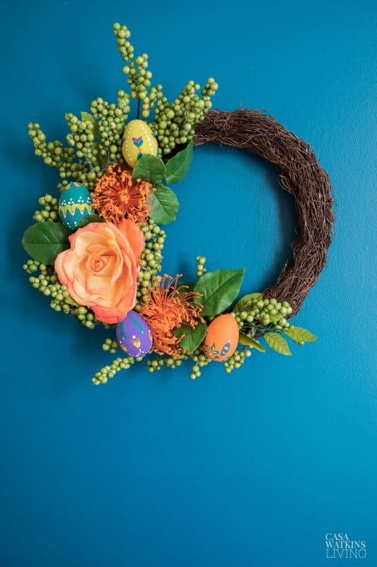 Painted Easter Egg Wreath