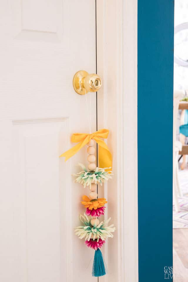 Wooden Bead Garland With Flowers Tutorial