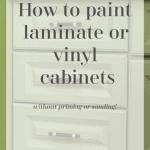 Paint Vinyl Cabinets Pinterest Black