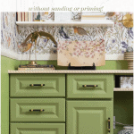 Painted Vinyl Cabinets Pinterest Green