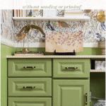 Painted Vinyl Cabinets Pinterest Green