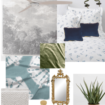 Colorful Bedroom Mood Board