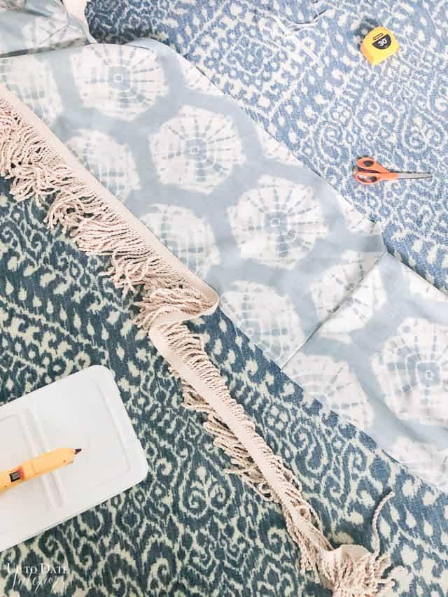 Diy Bedskirt with tassel fringe