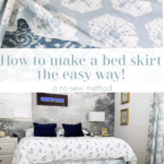 Diy Bedskirt Pinterest Blue