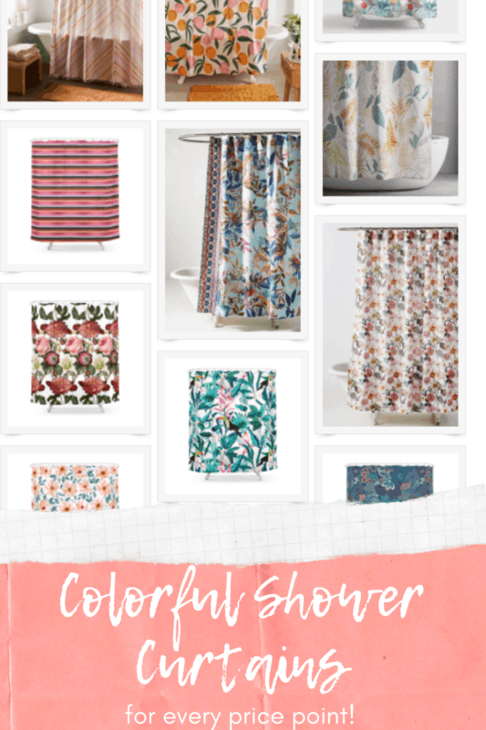 Colorful Shower Curtains Pinterest Two