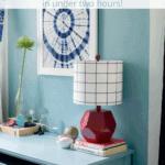 Arch Desk Blue Pinterest