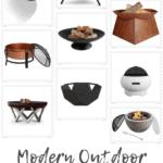 Modern Outdoor Fire Pits Pinterest
