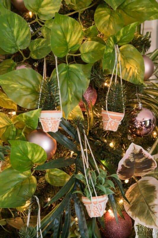 Diy Planter Pot Christmas Ornament