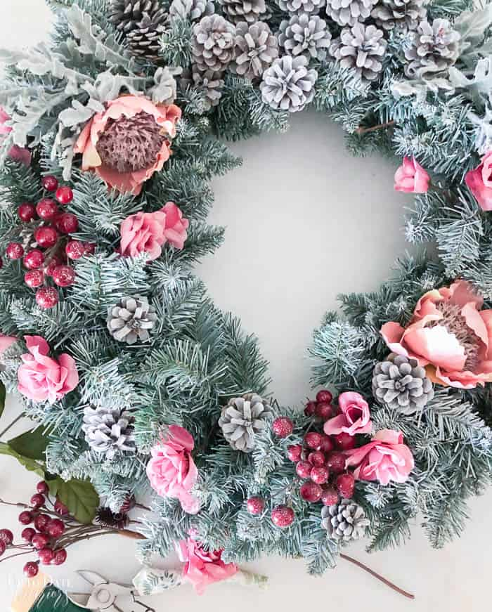 How To Make An Artificial Christmas Wreath Resized Watermark 4