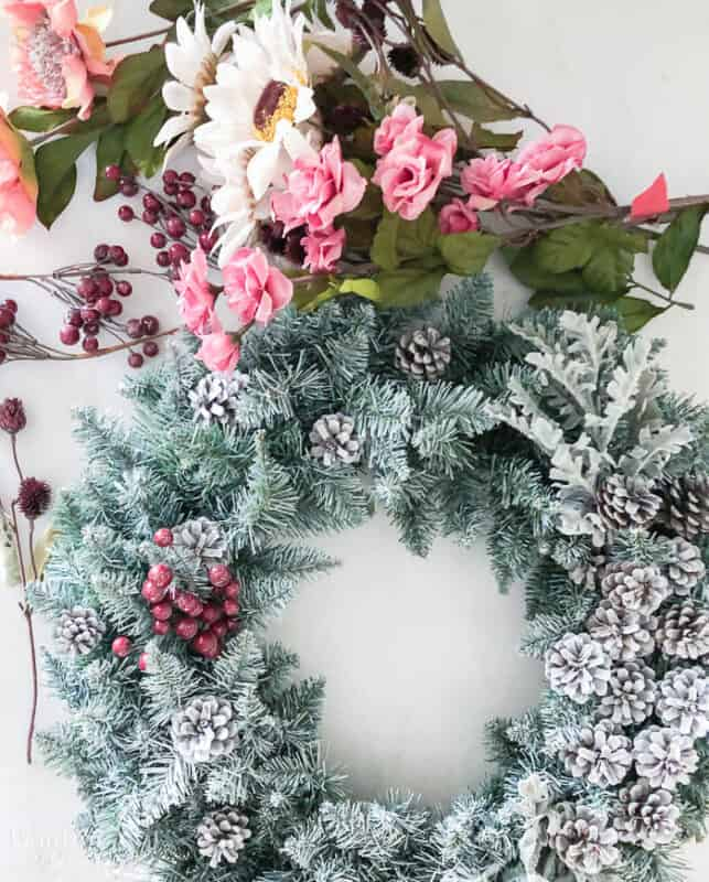 How To Make An Artificial Christmas Wreath Resized Watermark