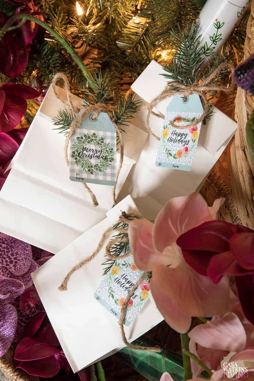 Printable Boho Christmas Gift Tags