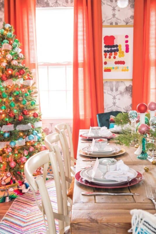 Christmas Ornament Table Decoration