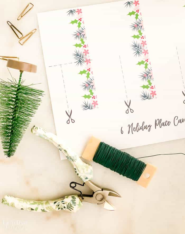 Christmas Printable Place Cards Edited Watermark 3