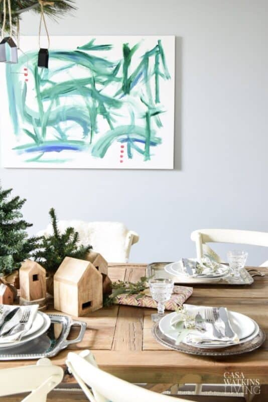 Simple Bohemian Winter Dining Room Tour