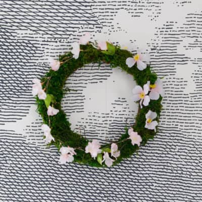 Diy Moss Wreath Watermark Resized Close Up