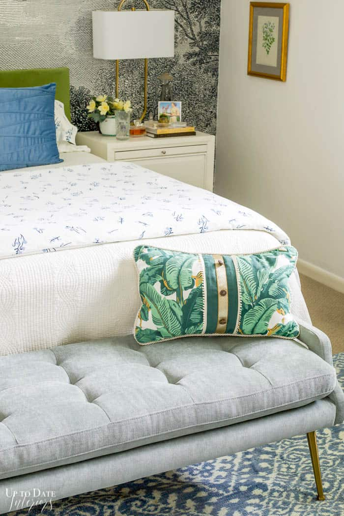 Summer Bedroom Decorating With Green Blue 3