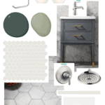 small ensuite bathroom design mood board