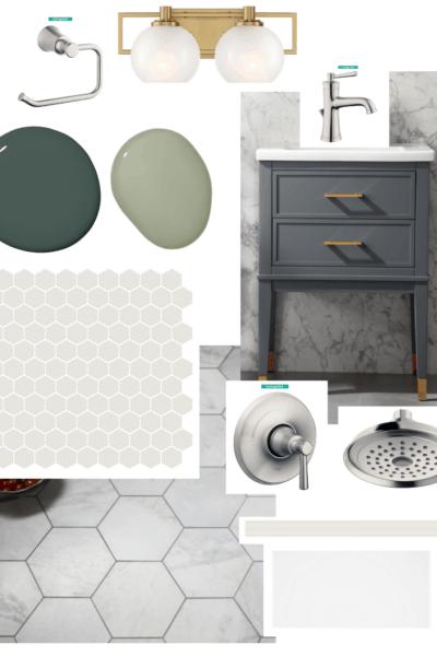 small ensuite bathroom design mood board