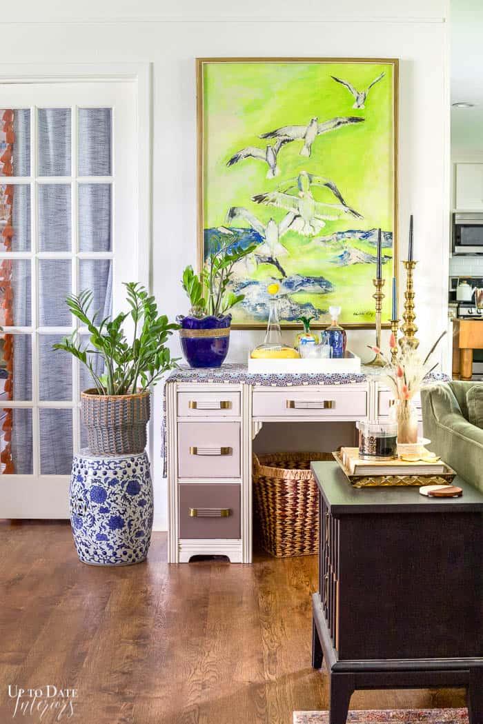 bright and colorful interior design
