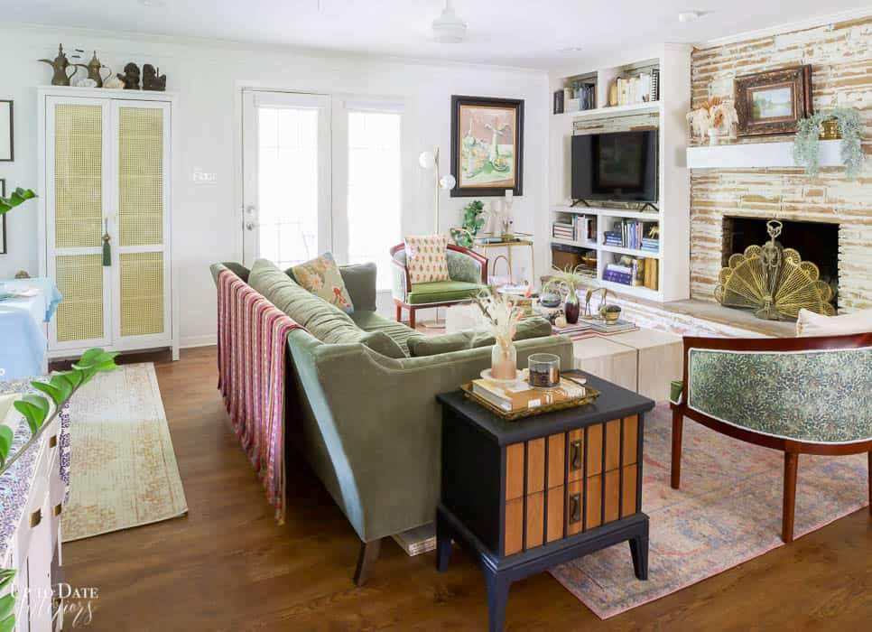 Living And Dining Rooms Summer Home Tour full view of living room