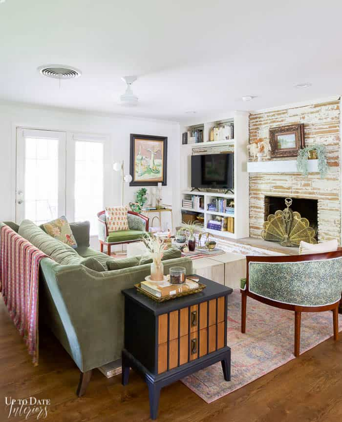 Living And Dining Rooms Summer Home Tour  View of Living Room with lots of green